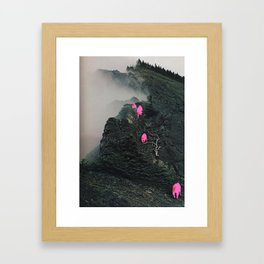 Lava Mountain Goats Framed Art Print
