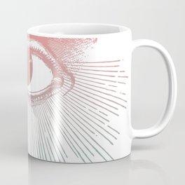 I See You. Pink Turquoise Gradient Sunburst Coffee Mug