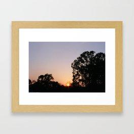 Silhouette Sunset Framed Art Print