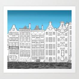 Dancing houses, Amsterdam Art Print