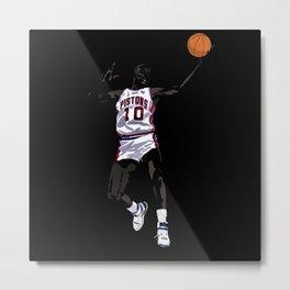 """Rodman #10 Art Print and Poster AKA """"The Worm"""" Metal Print"""