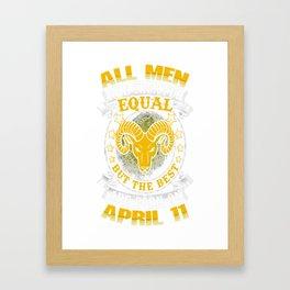 Best-Men-Are-Born-On-April-11---Aries-Shirt---Sao-chép---Sao-chép Framed Art Print