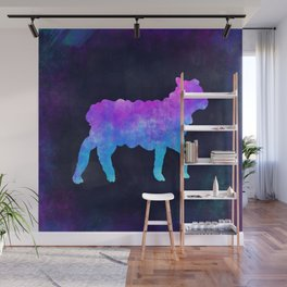 LAMB IN SPACE // Animal Graphic Art // Watercolor Canvas Painting // Modern Minimal Cute Wall Mural