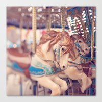 carousel Canvas Prints featuring Carousel by Laura Ruth