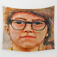 sam winchester Wall Tapestries featuring Sam by Whalefish