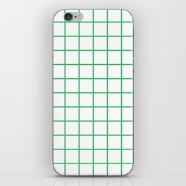 Grid Pattern Green iPhone Skin