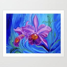 Hawaiian Orchid Lavender Art Print