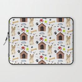 Cairn Terrier Half Drop Repeat Pattern Laptop Sleeve