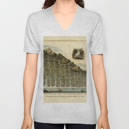 Vintage Print - A Comparative View of the Lengths of the Principal Rivers of Scotland (1822) Unisex V-Neck