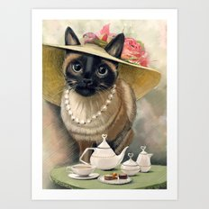 Lady Cat Art Print