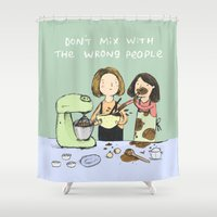 baking Shower Curtains featuring Baking Advice by Sophie Corrigan