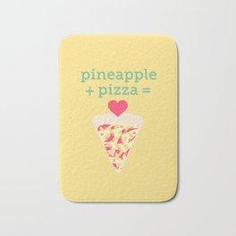 Pineapple + Pizza Bath Mat