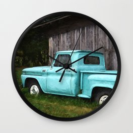 To Be Country - Vintage Truck Art Wall Clock