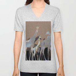 Girafes Unisex V-Neck