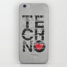 I love Techno iPhone & iPod Skin