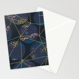 Abstract cosmic illustration pattern Stationery Cards