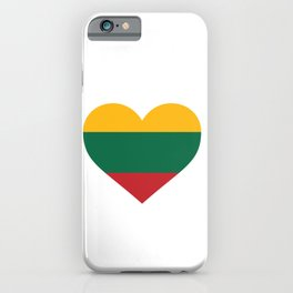 Lithuania  love flag heart designs  iPhone Case
