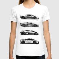 lamborghini T-shirts featuring The Lamborghini Collection by Mark Rogan