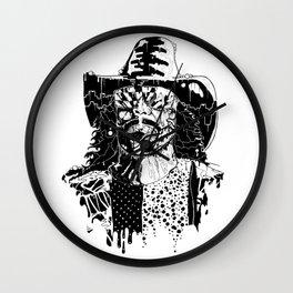 MACHO MAN (Black & White Edition) Wall Clock