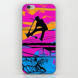Lets Fly!  - Stunt Scooter iPhone Skin