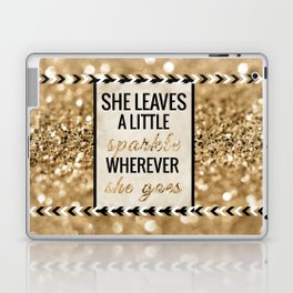 She Leaves a Little Sparkle Wherever She Goes Laptop & iPad Skin