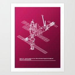 Space Station Mir Art Print