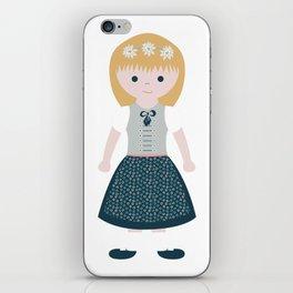 AUSTRIAN DIRNDL GIRL iPhone Skin