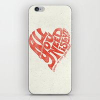 all you need is love iPhone & iPod Skins featuring Love is all you need by Kris Petrat Design :  Art Love Moto