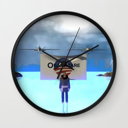 Fly:Oh yes he cares Wall Clock