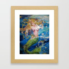 Mermaid Buttercup Framed Art Print