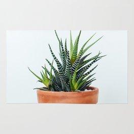 Zebra Plant Rug