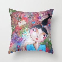 stay close.. Throw Pillow
