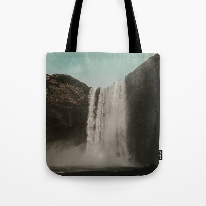 Iceland Waterfall x Skógafoss Tote Bag
