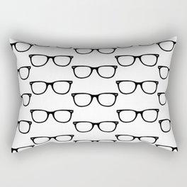 Black Funky Glasses Rectangular Pillow