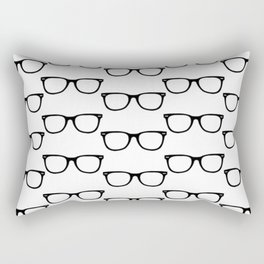 Black Funky Glasses Rectangular Pillow