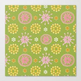 Lime Deco Canvas Print