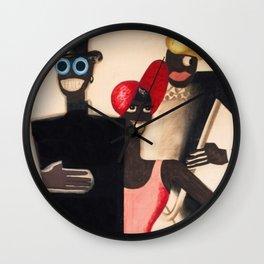 Josephine Baker and the Blackbirds 1922  Folies Bergère in Paris by Paul Colin Wall Clock