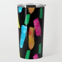 Bold and Colorful Art Strokes Travel Mug