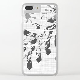 Grunge Tyre Marks Clear iPhone Case
