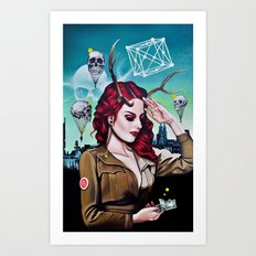 Miss B Haven Art Print