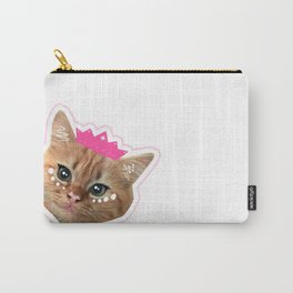 Maine Coon Kitten Princess Pink & White Carry-All Pouch