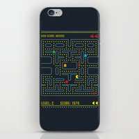 pacman iPhone & iPod Skins featuring Pacman by Virbia