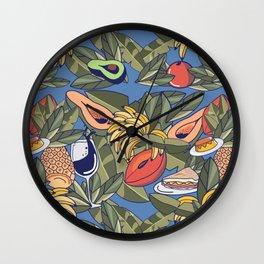 El Cochinito Wallpaper Wall Clock