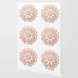 Rose Gold Mandala Wallpaper