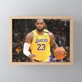 Le-Bron -James- Famous Basketball Framed Mini Art Print
