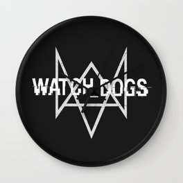 Watchdogs logo Wall Clock