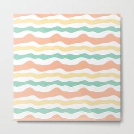 Modern wavy stripes pattern Metal Print
