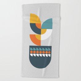Geometric Plant 01 Beach Towel