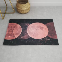 Pink Moon Phases Rug