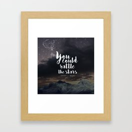 You could rattle the stars (stag included) Framed Art Print